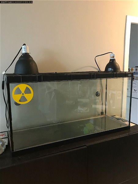 3.5 cu ft (~26 gallon) Hagen Tank and Supplies - Reptile Classifieds Canada